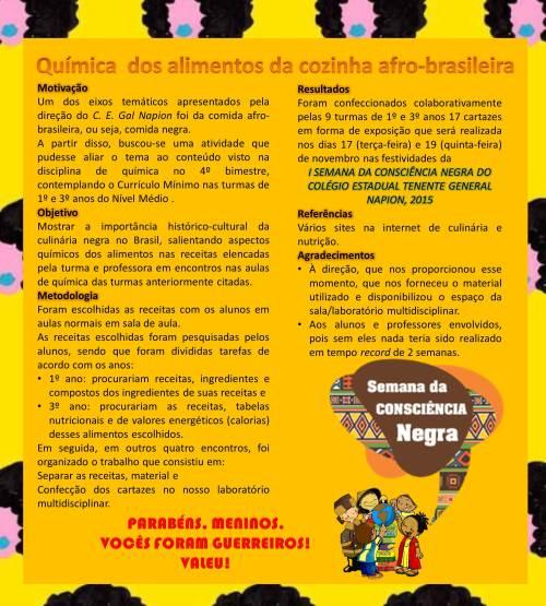 quimica na cozinha afro brasileira